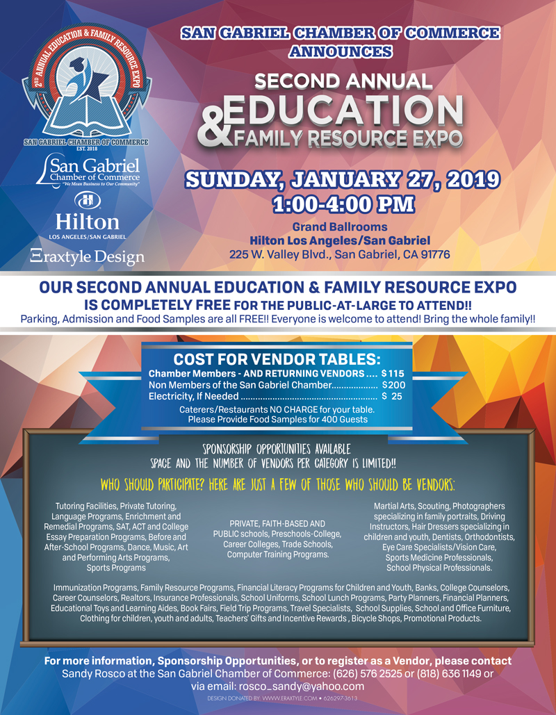 2nd Annual Education & Family Resource Expo @ Hilton Los